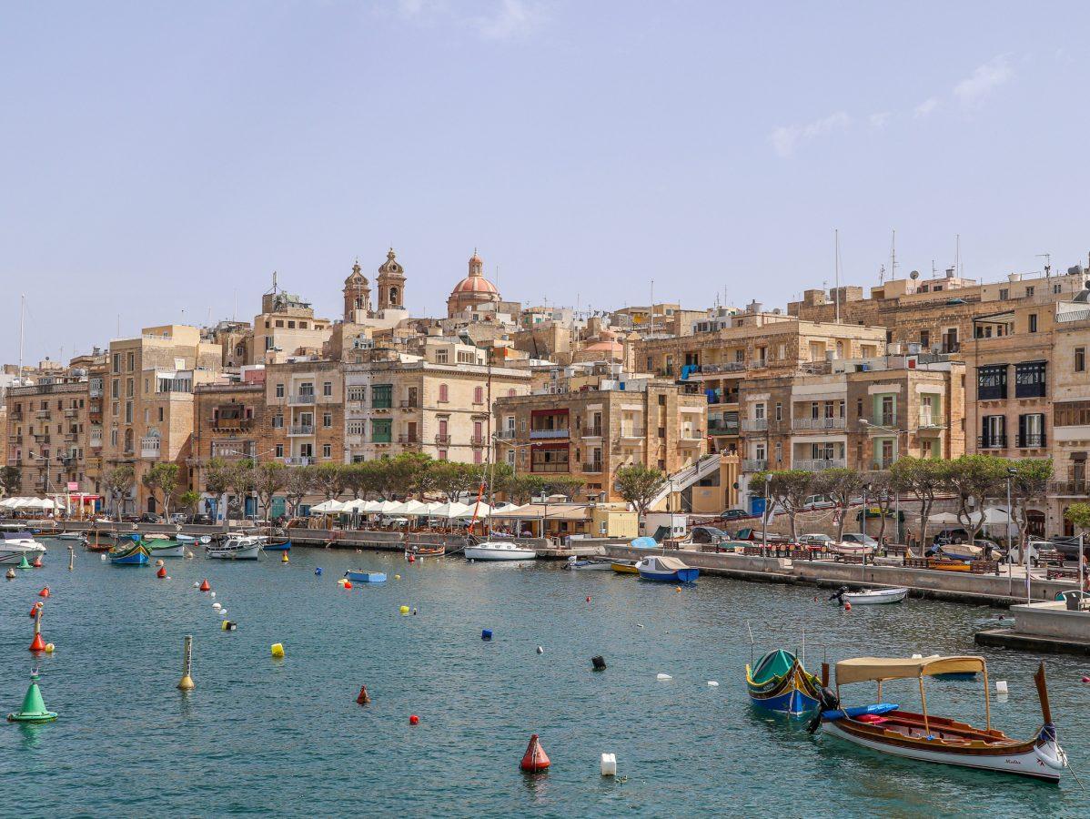Vista para Vittoriosa em Malta